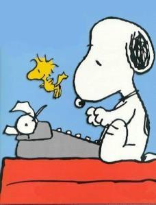 snoopy-writing