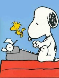 snoopy-writing