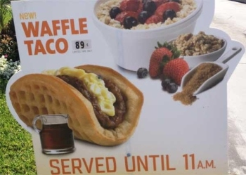 Waffle Taco (ONLY 89 CENTS!!)
